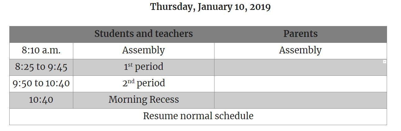 Activity details - Lake Pointe Academy